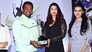 Aishwarya Rai Bachchan looks like a complete diva in an all black at the Tennis Premier League