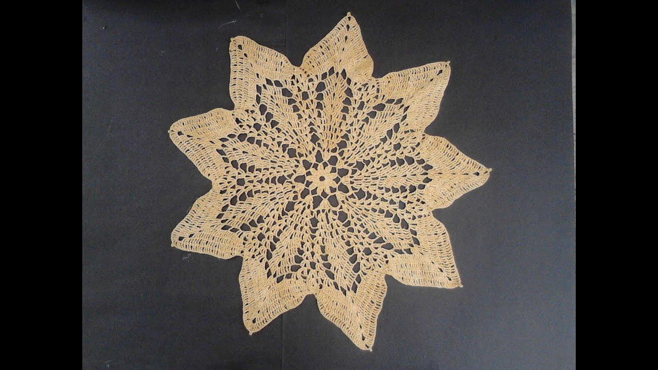 carpeta crochet estrella 2 de 2 - YouTube
