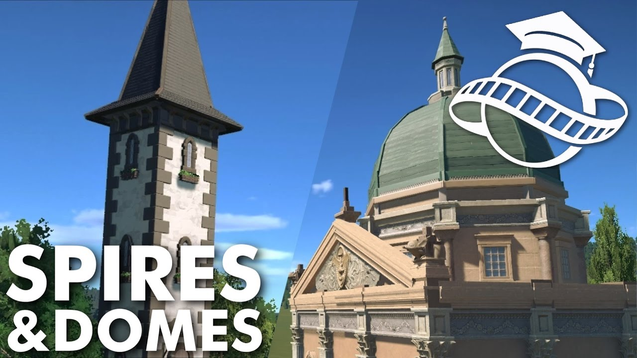 Planet Coaster College   Spires U0026 Domes   YouTube