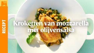 Kroketten van mozzarella met olijvensalsa