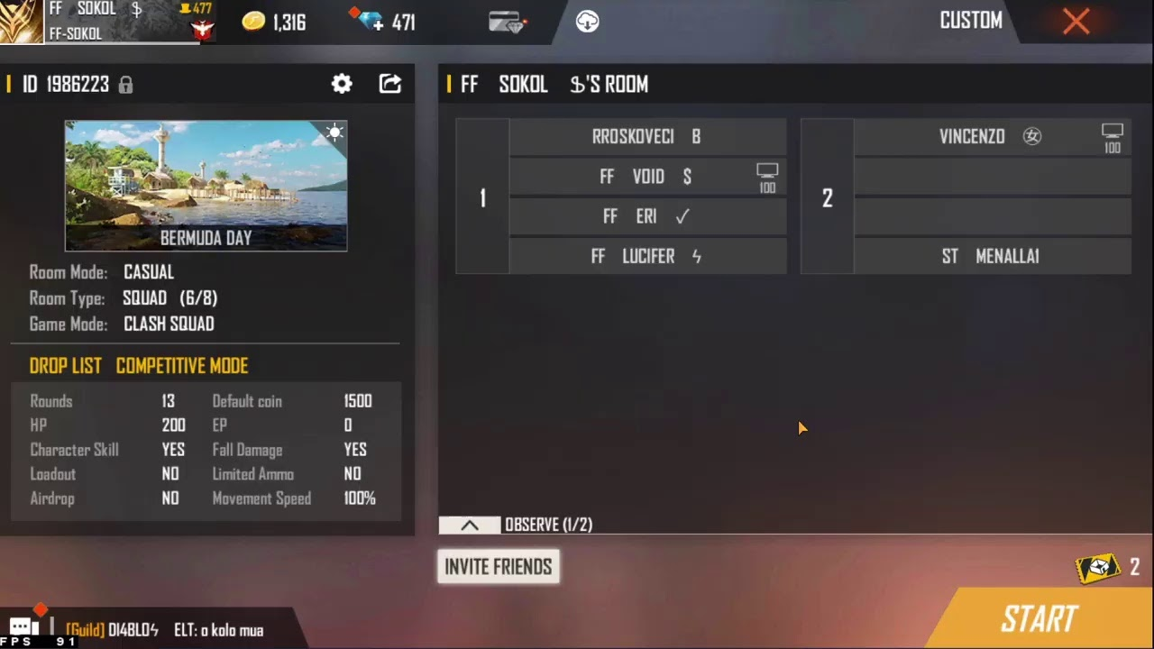 Download FREE FIRE ROOM WITH DAIMOND