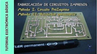 Tutorial #Electrónica Básica. Cap 15. Cómo hacer circuitos impresos PCB (I)