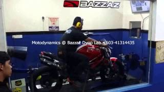 Ducati Monster 796 Bazzaz ZFI Dyno Tuning #2 - Motodynamics Technology Malaysia
