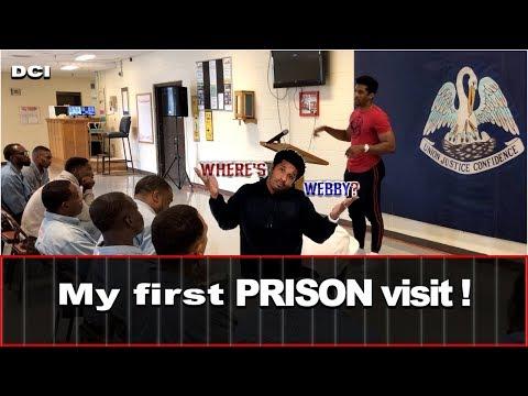 Corey Webster visits Dixon Correctional Institute