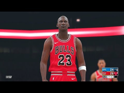 NBA 2k18 - All Time Chicago Bulls Team vs All Time Orlando Magic Team | PS4 Pro (1080p 60fps)