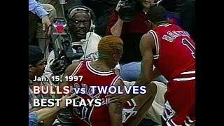 January 15, 1997 Bulls vs Timberwolves highlights