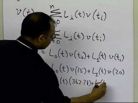 Lagrangian Interpolation: Linear Interpolation: Example