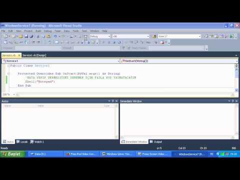 VB.NET Windows Services Hatası!...