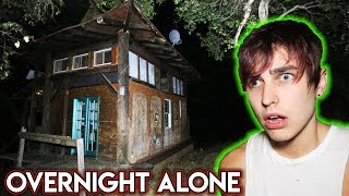 Overnight BY MYSELF in Haunted House (scary) | Colby Brock