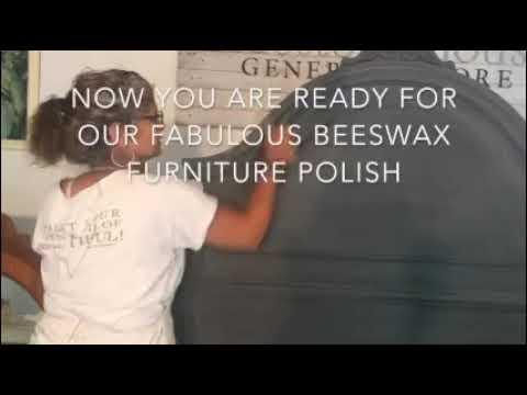 Headboard with Vintage Velvet & White Wax