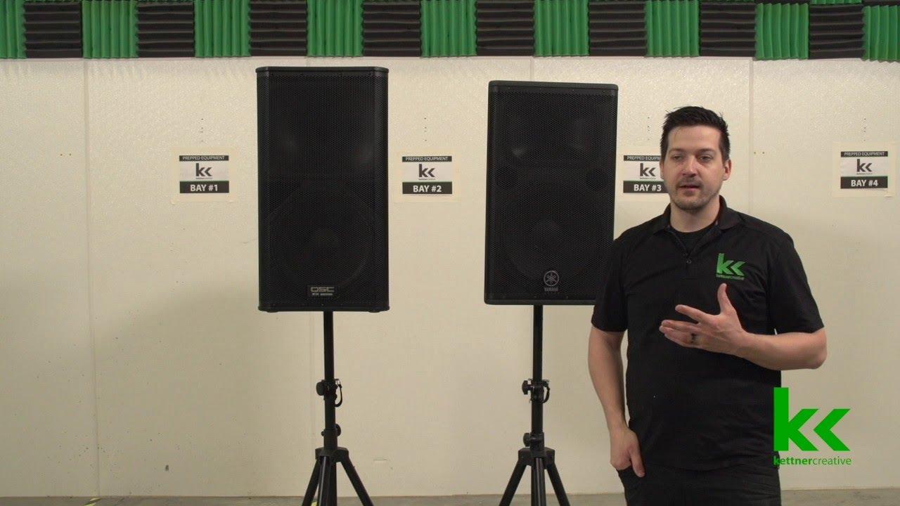Yamaha DSR vs QSC KW Speakers