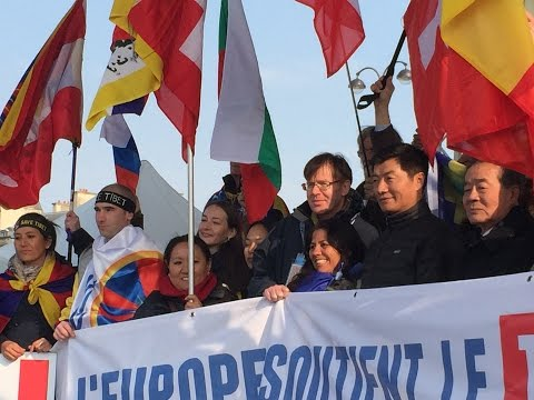 Europe Stands With Tibet Rally in Paris on 14 March 2015