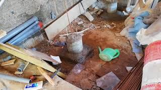 Опалубка под плиту перекрытия первого этажа
