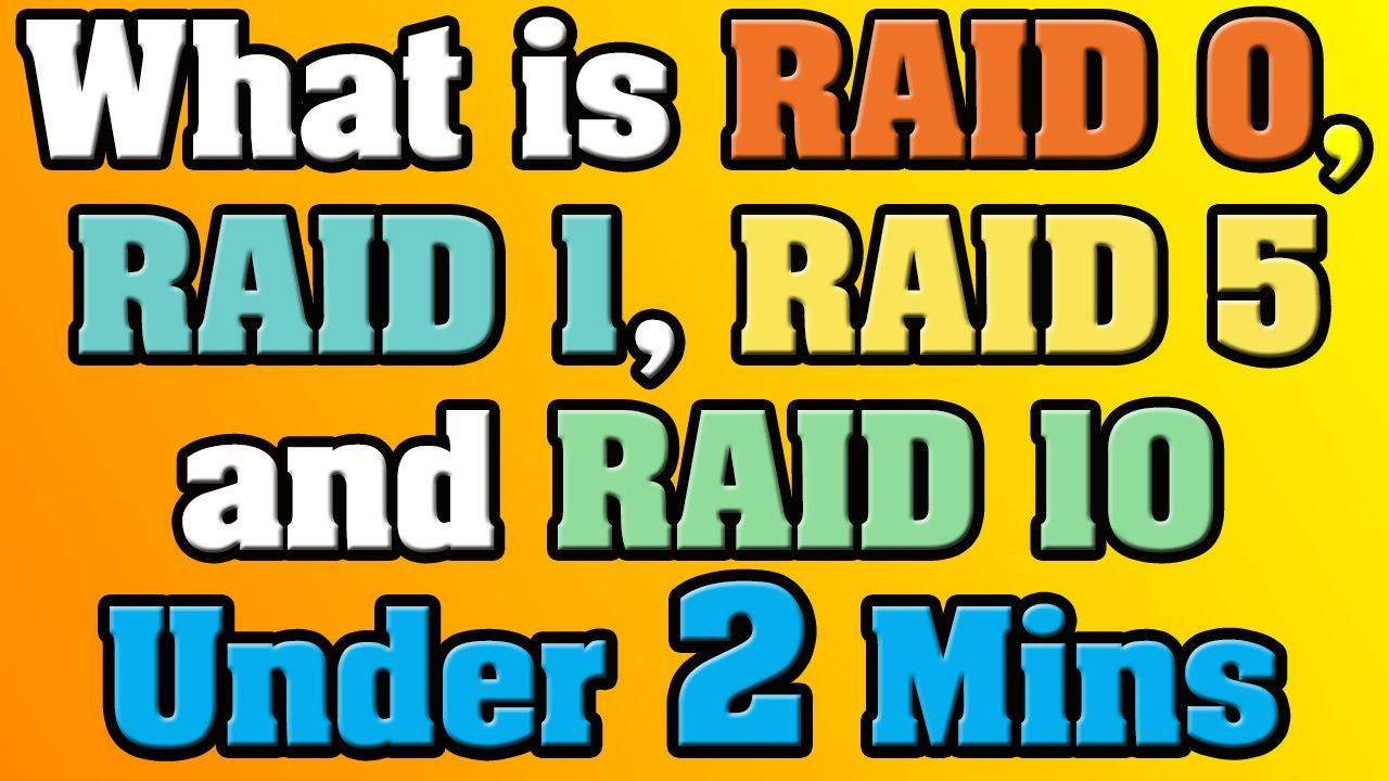 What Is Raid 0 Raid 1 Raid 5 And Raid 10 Under 2 Minutes