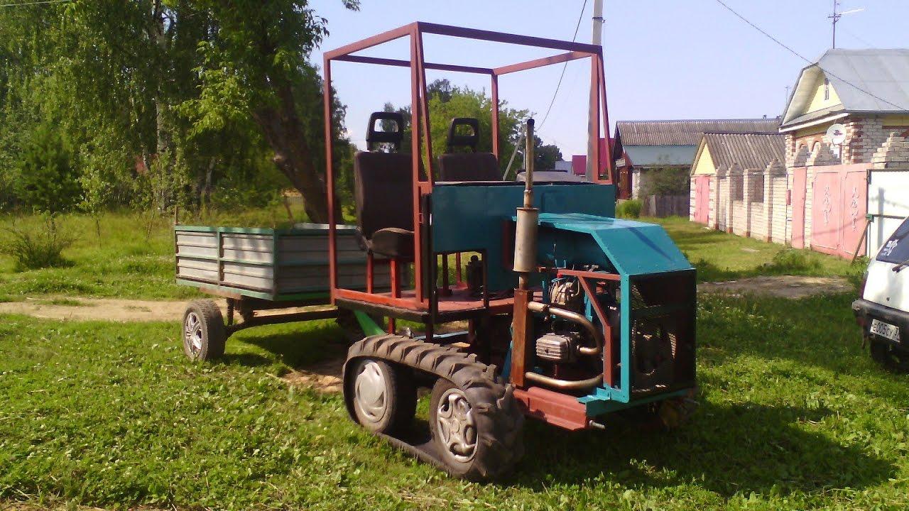 Полный привод на самодельный трактор 142