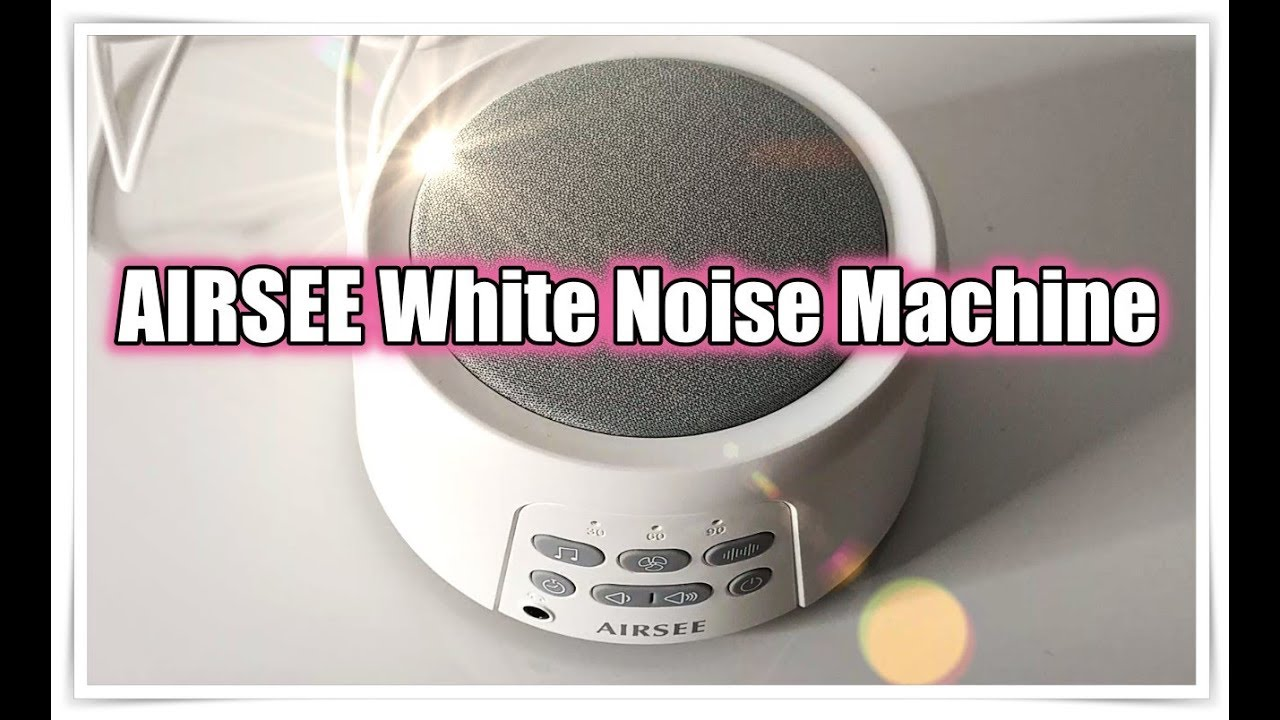 Rechargeable White Noise Machine with 31 Soothing Sounds for Sleeping AIRSEE Sound Machine with Nightlight Sleep Sound Therapy for Home and Travel Breathing Lamp /& Memory Feature Upgraded