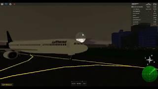 Roblox pilot flight training simulator part 2 airbus a340 Lufthansa and airbus beluga cargo plane.