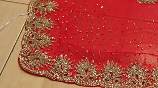 latest designer fancy and new stonework saree for bridal and wedding partys66