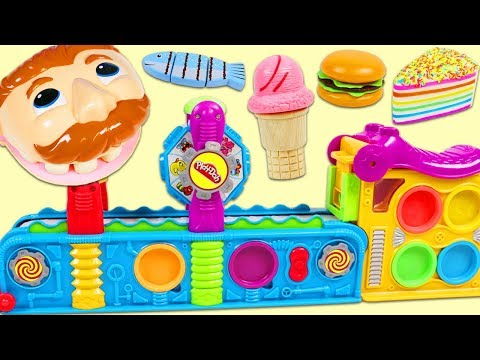Feeding Mr Play Doh Head Using Magical Mega Fun Factory Playset!
