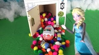 Frozen Anna Minions and Paw patrol Surprise Egg at the guess house TOYS LINE