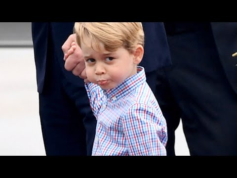 3-Year-Old Prince George Steals Spotlight As Royal Family Arrives In Poland