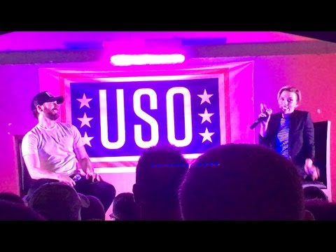 Chris Evans and Scarlett Johansson on USO Tour