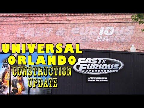 Universal Orlando Resort General Construction Update 7.6.17  FURIOUS SIGNAGE & MORE!
