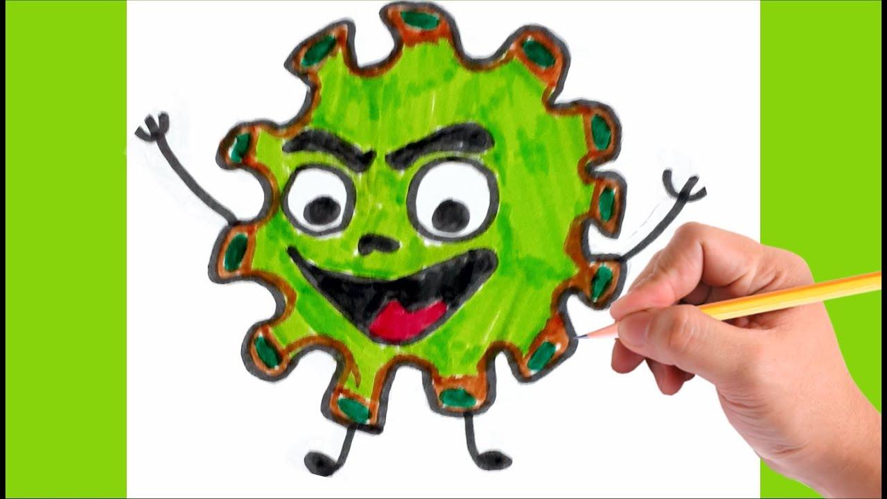 Como desenhar CORONAVÍRUS   How to draw the Coronavirus