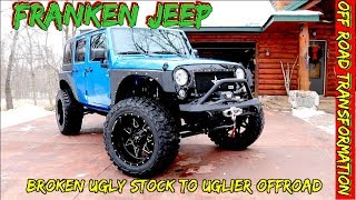Franken-jeep build-From smashed up, stock  jeep to Off road body armor & 4 x 4 mods