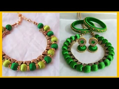 New Multicolor Thread Necklace and Jhumkas | Necklace and Jhumkas