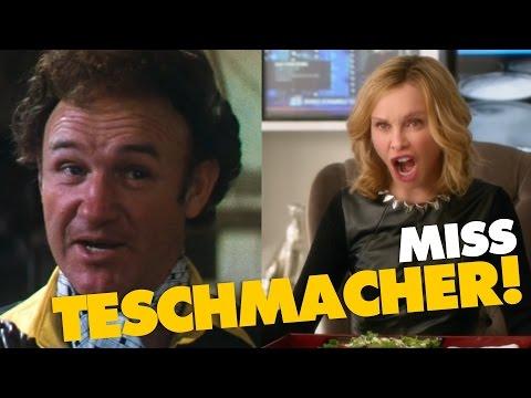Lex Luthor (Superman 1 – 1978) & Cat Grant (Supergirl – 2016) yelling Miss Teschmacher