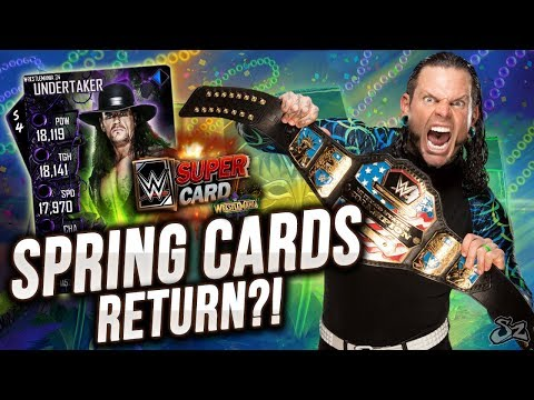 JEFF HARDY EVENT!! SPRING FUSION CARDS RETURN WITH WRESTLEMANIA 34! | WWE SuperCard S4