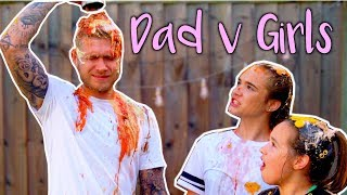 EAT IT OR WEAR IT CHALLENGE - DAD vs DAUGHTERS