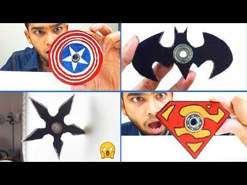 7 awesome DIY Fidget spinner compilation