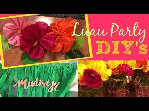 LUAU PARTY DIY'S // GIANT HIBISCUS FLOWERS