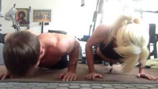 Sally up Sally down push up challenge