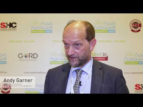 Andy Garner from International Atomic Energy Agency speaking at Sustainability Summit 2017