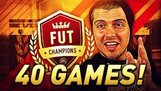 THE ULTIMATE FUT CHAMPIONS EXPERIENCE! 40/40, THE SQUAD BUILDER & TACTICS / FORMATIONS IN FIFA 17
