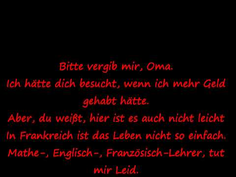 Sexion D´Assaut-Desolé Lyrics (German)