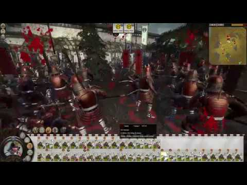 Total War Shogun 2 Castle defend with ultimate army and bloody fight |