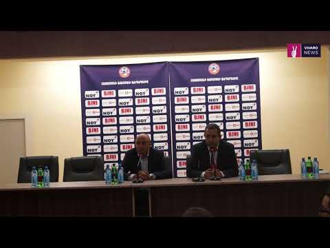 Artur Petrosyan press conference after Armenia - Belarus