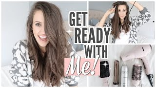 FALL GET READY WITH ME 2019 // EASY HAIR TUTORIAL FOR BUSY MOMS // HOW I MAKE MY CURLS LAST