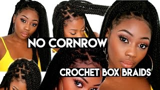 One of Lizzie Loves's most viewed videos: NO CORNROWS CROCHET BOX BRAIDS | DIY 2 HOURS+  BEGINNER FRIENDLY