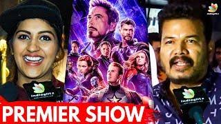 Out of the World Movie : Avengers Premier Show   Shankar, Yashika Anand   Iron Man Vs Thanos