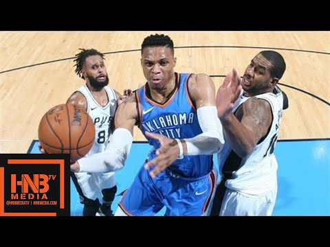Oklahoma City Thunder vs San Antonio Spurs Full Game Highlights / March 10 / 2017-18 NBA Season