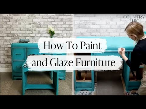 How To Paint and Glaze Furniture with Country Chic Paint | Furniture Painting Demo