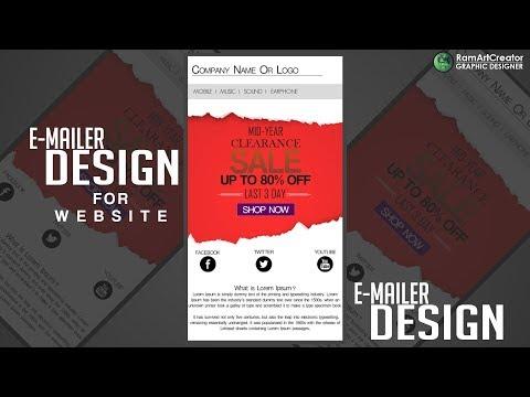 Website E-mailer Design : How To A Design Web E-mailer Banner In Photoshop CC Free