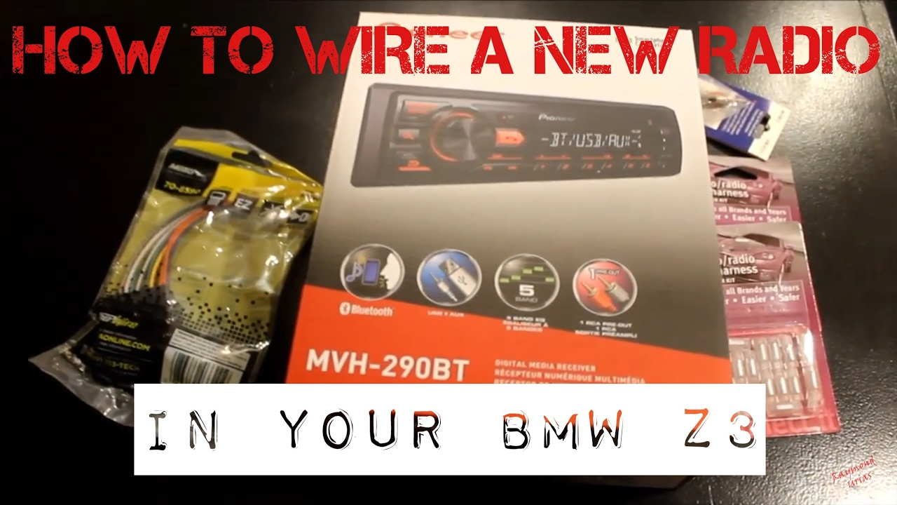 Bmw Z3 Stereo Wiring Diagram Harness Saab Speaker Aftermarket Radio Install Youtube 9 3