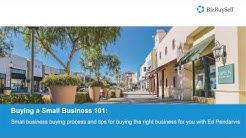 Buying a Small Business 101