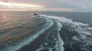 DJI Inspire One Drone chasing boat